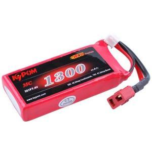 Kypom K6 7.4V 1300mAh 35C70C リポ バッテリー|hsfujisan