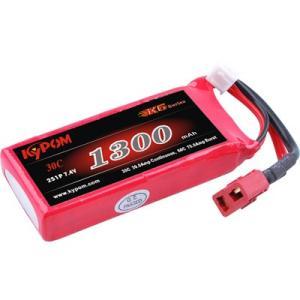 Kypom K6 7.4V 1300mAh 30C60C リポ バッテリー|hsfujisan