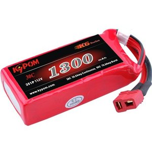 Kypom K6 11.1V 1300mAh 30C60C リポ バッテリー