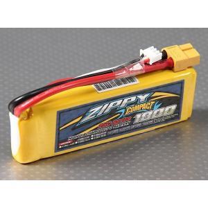 Compact 7.4V 1800mAh 25C35C ZIPPY リポバッテリー|hsfujisan