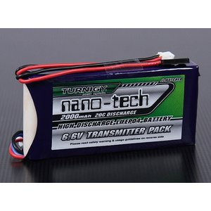 Turnigy nano-tech 6.6V 2000mAh 20C40C リフェ 送信機用 hsfujisan