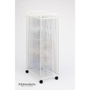 HIRANO.S.S. スリム絵画作品乾燥棚 差込式50段 段数字入り(画板整理兼用:画板は付属しません)|hss-products