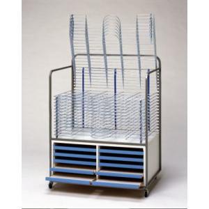 HIRANO.S.S. 絵画作品乾燥棚 (絵画・画用紙乾燥棚) 20段 (用紙整理棚付)|hss-products