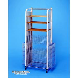 HIRANO.S.S. 絵画作品乾燥棚 スリム50段(絵画・画用紙・粘土乾燥棚) (アミ棚差し込み式)|hss-products