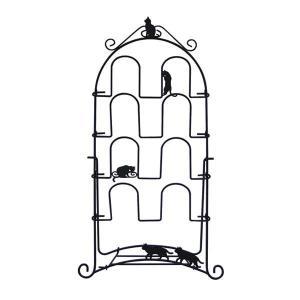 (送料無料)Abeille スリッパラック ネコ ブラック ACR-2855|hstsuge