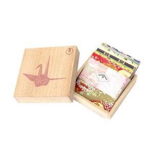 (送料無料)春光園 桐箱 千代紙セット 7.5×7.5cm 100枚入 SKW-1000