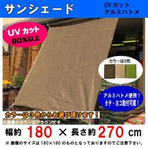 サンシェード (約)180x270cm取付固定ひも付(4本)UVカット素材・遮光率85%以上 サン・シェード・オーニング(TK)|hstsuge