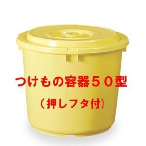 日本製 つけもの容器50型(押しフタ付)漬物容器50L(リットル)|hstsuge