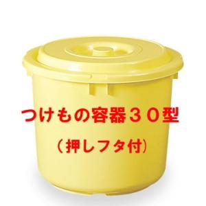 日本製 つけもの容器30型(押しフタ付)漬物容器30L(リットル)|hstsuge