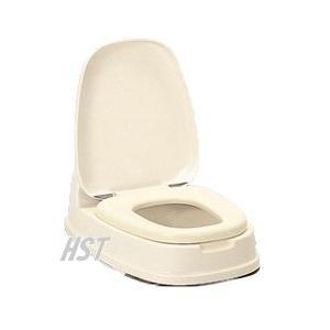 洋式便座両用型(リフォームトイレ)段差がある和式トイレを洋式に安心のSGマーク認定商品TONBO(新輝合成株式会社):色ベージュ|hstsuge