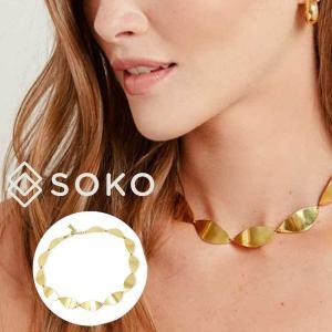 ソコ ハンドメイド ネックレス SOKO アクセサリー タラリンク カラー Tulla Link Colliar レディース 女性 ACC-JN181005-BR0|hstyle
