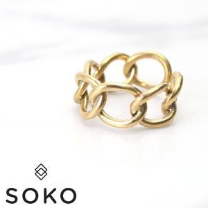 ランキング1位獲得! SOKO リング ソコ 指輪 ファニア リンク Fania Link Ring レディース JR182023-BR0|hstyle