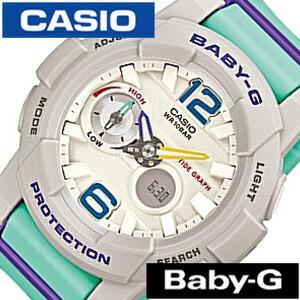 ベイビー ジー ジー ライド BABY-G G-LIDE レディース腕時計/ホワイト/CASIO-BGA-180-3BJF アナデジ/デジタル/液晶/ライト グリーン/ブルー/グレー セール