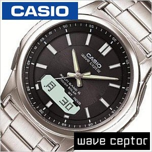 CASIO WAVE CEPTOR 腕時計 カシオ ウェーブセプター 時計 ソーラー電波腕時計 MULTIBAND6 メンズ時計/ブラック/CASIO-WVA-M630D-1AJF セール