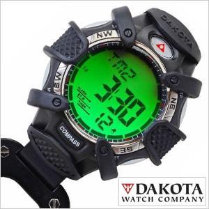ダコタ ポケットウォッチ DAKOTA 時計 カラビナ時計 デジタルコンパス DKT-8233-2-BK ユニセックス メンズ レディース|hstyle