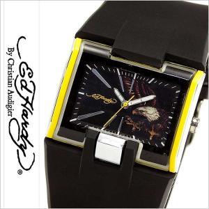 エドハーディー腕時計 EdHardy時計 Ed Hardy 腕時計 エド ハーディー 時計 メンズ ブラック ホワイト EDHARDY-HR2-YW|hstyle
