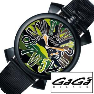 GaGa MILANO 腕時計 ガガ ミラノ 時計 マニュアーレ Manuale メンズ レディース 男性 女性 ペアウォッチ グリーン GG-50823|hstyle