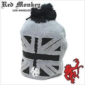 レッドモンキー デザインズ ニット キャップBrit-Invasion-BLACK 黒 セール|hstyle