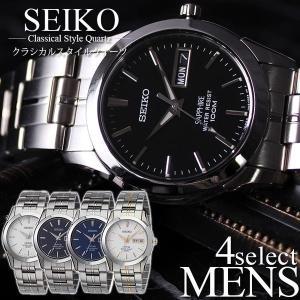 セイコー 腕時計 SEIKO 時計 海外モデル メンズ 逆輸入 シンプル スーツ ジャケット サラリ...
