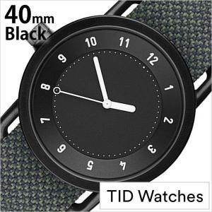 ティッド ウォッチズ 腕時計 TIDWatches 時計 クヴァドラ Kvadrat メンズ レディース 腕時計 ブラック TID01-BK40-PINE|hstyle