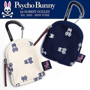 先行予約 12月入荷予定 Psycho Bunny サイコバニー 2017年モデル PBMG7SB4 モノグラム S/B BALL TEE POACH ボール&ティーポーチ