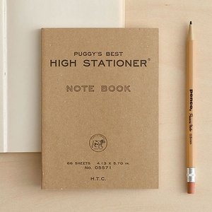 PUGGY'S ポケットノートです。再生紙を利用した環境に優しいハンディノート。使い勝手の良い文庫本...