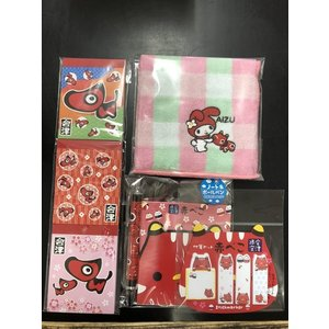 会津の赤べこの文房具とタオルの4点セット お土産やプレゼントにいかがでしょうか?  【発送に関して】...