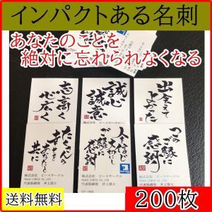 あなたの事を絶対に覚えてもらえるインパクトある名刺200枚制作 筆文字アートのオーダー名刺 書道 オリジナルの言葉|hudemoji-sora