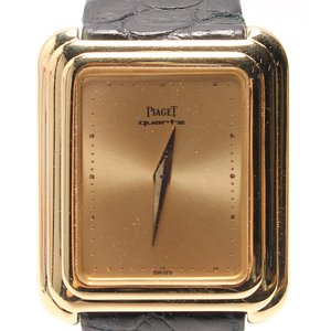 ピアジェ 74101 クォーツ スクエア 腕時計 750 Y...