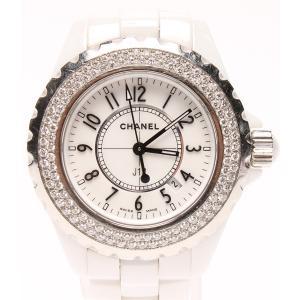 82c6a45f52 シャネル 腕時計 J12 ホワイトセラミック H0967 クオーツ CHANEL レディース 中古