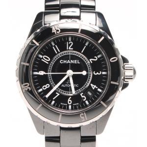 aa5b9a020413 シャネル 腕時計 ブラックセラミック J12 H0685 クォーツ CHANEL メンズ 中古