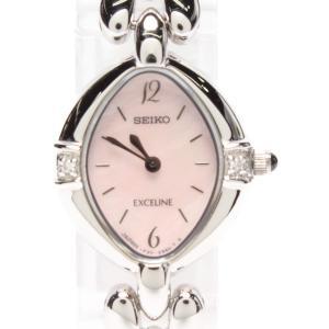 0d471f039e セイコー 腕時計 エクセリーヌ クオーツ 1F20-6B60 レディース SEIKO 中古