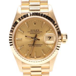 ロレックス 腕時計 デイトジャスト 自動巻き ゴールド 69178 レディース ROLEX 中古