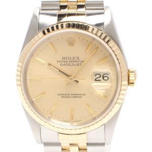 ロレックス 腕時計 デイトジャスト 自動巻き ゴールド 16233 メンズ ROLEX 中古