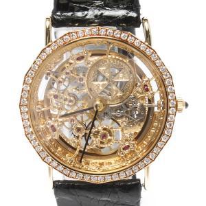 ヴァシュロンコンスタンタン 腕時計 スケルトン ベゼルダイヤ...