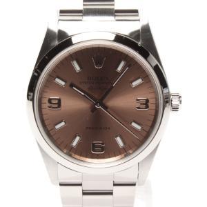 ロレックス 腕時計 エアキング 自動巻き ピンク 14000 メンズ ROLEX 中古