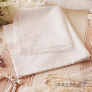 ハンカチ イニシャル ペア(レディース&メンズ)ギフト 結婚祝い ブライダル プレゼント 花嫁 新郎新婦 セット 結婚式 男性 女性 箱|hugge