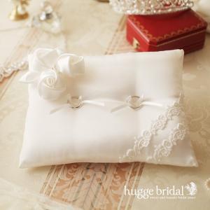 リングピロー ロイヤル ローズ 完成品 バラ 薔薇 ウエディング 結婚式 マリッジリング hugge