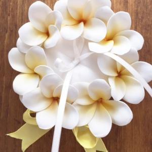 リングピロー プルメリア(手作りキット) ウェディング 結婚式 海外挙式 グッズ ギフト リゾート ハワイ 送料無料 hugge