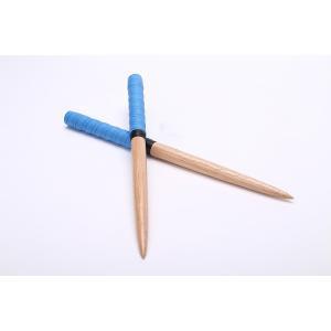 【 逆鱗】太鼓の達人 マイバチ テーパーロール仕様 青色(ブルー) ゴムの木(木製バット素材)反発力が自慢!アーケードゲーム 直径20ミリ全長350mm