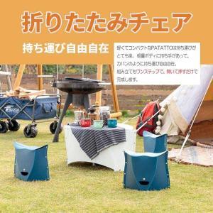 折りたたみ椅子 アウトドア BBQ キャンプ 釣り ガーデニング 運動会 SOLCION PATATTO300 高さ30cm ネイビー チェアー|hull-tsuhan