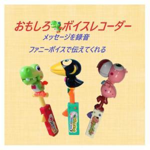 おもしろボイスレコーダー パーティーグッズ 変声 おもちゃ 玩具 九官鳥 フラミンゴ 面白グッズ 990101
