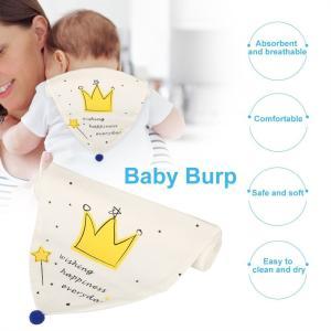 汗取りパッド かわいい 綿100% 赤ちゃん 新生児 柔らかい あせも対策 5重ガーゼ 汗取りパッド 暑さ対策 吸水性が強い(クラウン) huratto