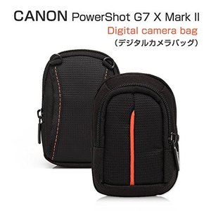 PowerShot G7 X Mark IIケースレザー ポーチ カバン型 軽量/薄 CANON G7 X Mark II対応ケースデジタル|huratto