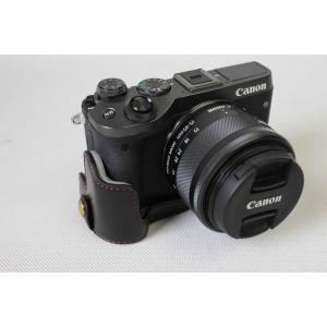 Canon キヤノン PEN EOS M6 カメラ バッグ カメラ ケース 、Koowl手作りトップ...