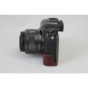 Canon キヤノン PEN EOS M5 カメラ バッグ カメラ ケース 本革、Koowl手作りト...