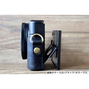 SONY RX100M5A Cyber-shot 専用 高級合皮レザー カメラケース ネックストラッ...