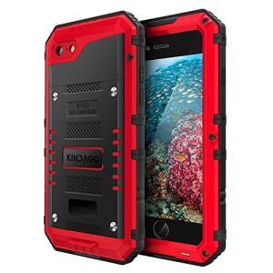 KINDAGO正規品iPhone7/iPhone8 防水ケース 防水等級IP68 完全防水 水中撮影...