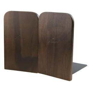 クルミの木 木製 ブックエンド 本立て ブックスタンド ブックオーガナイザー 学校 オフィス 部屋 卓上収納 机と本棚の飾り物 置物 インテ|huratto