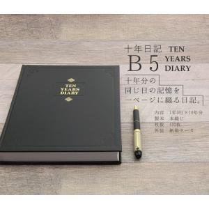アピカ 日記帳 10年日記 横書き B5 日付け表示あり D305|huratto